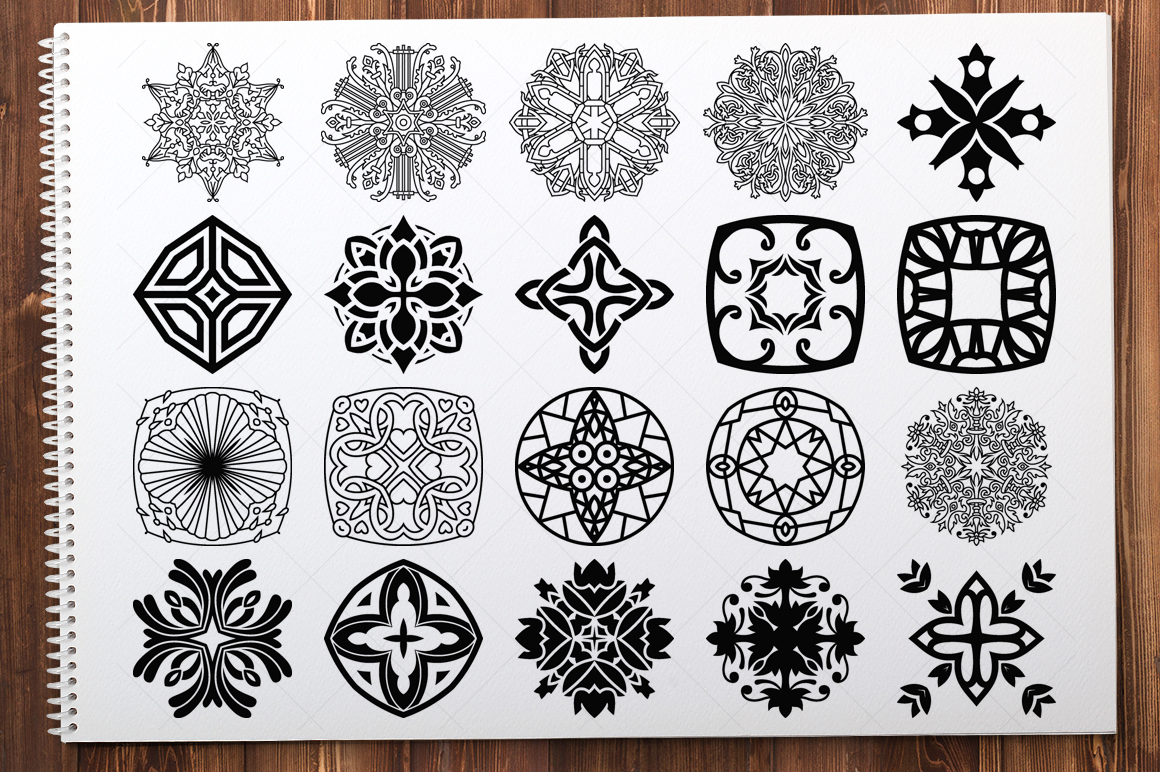 500 Vector Mandala Ornaments example image 12