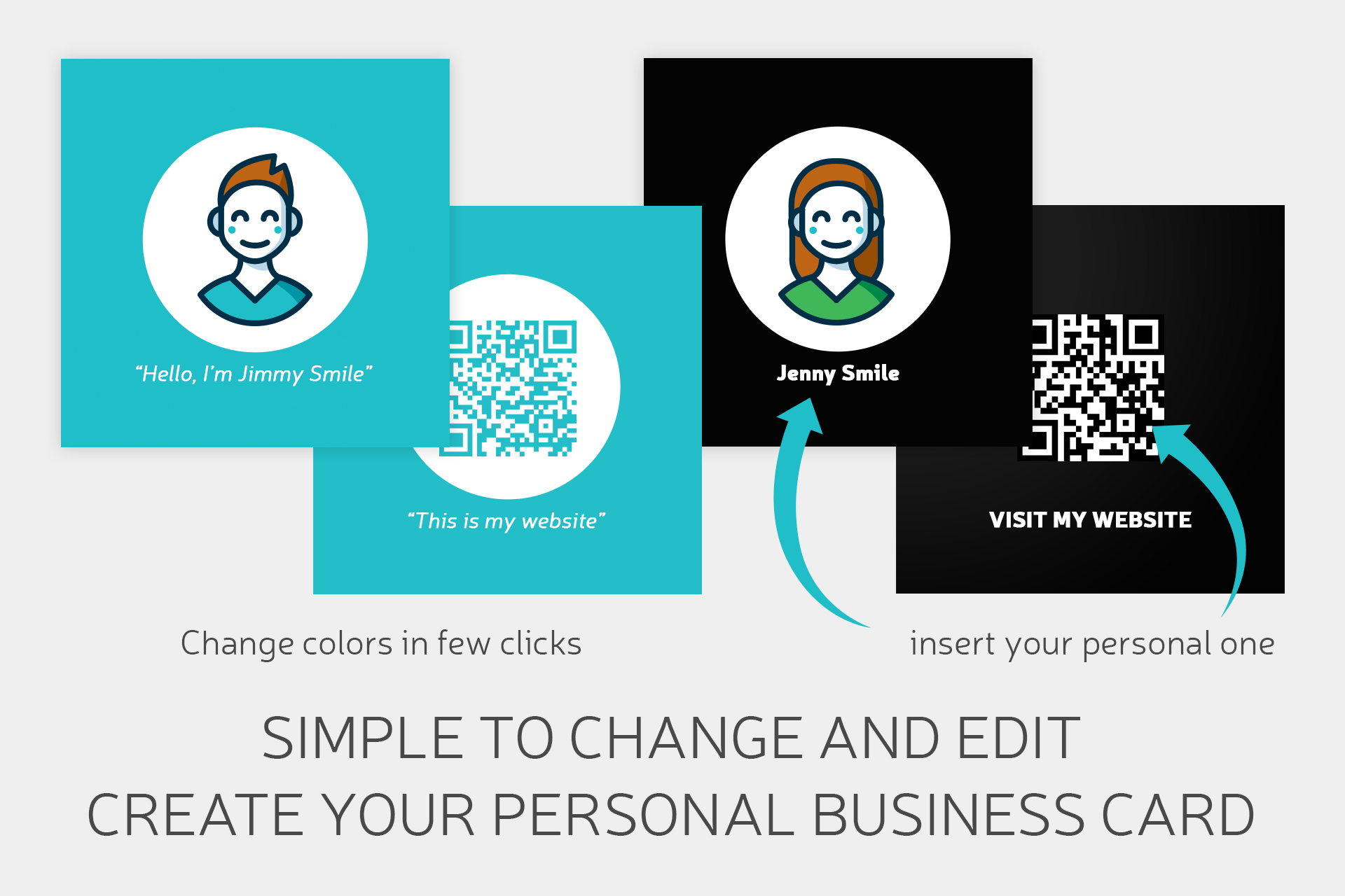 Square Business Card QR code example image 2