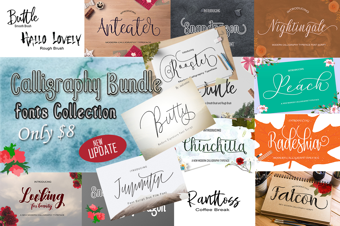 Calligraphy Font Bundles example image 1