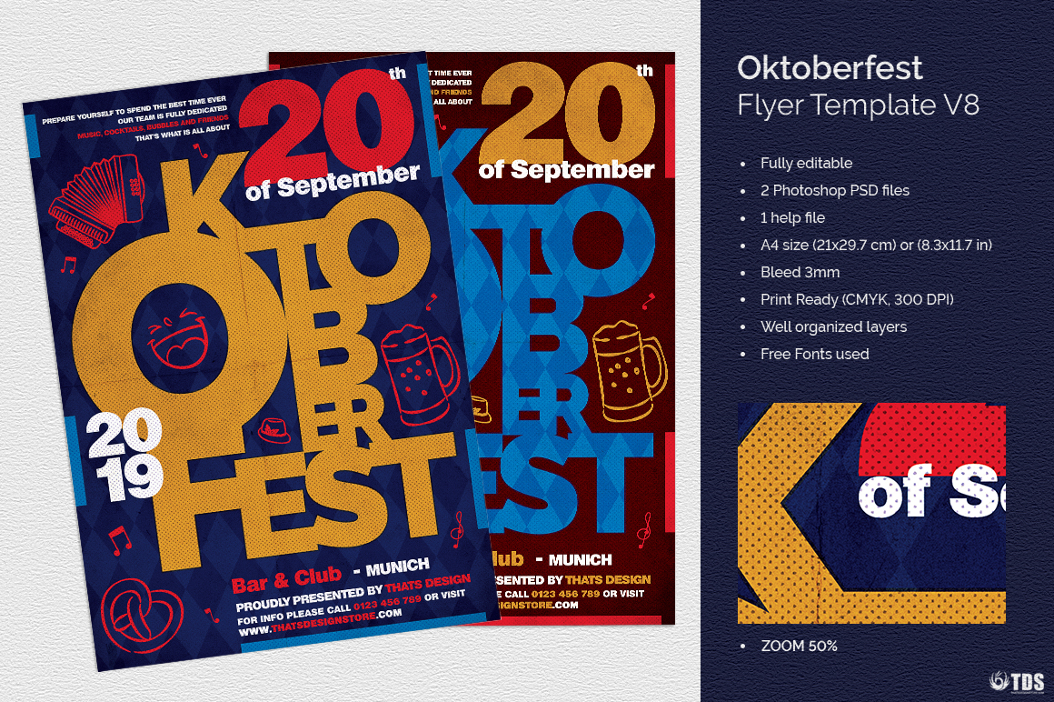 Oktoberfest flyer template V8 example image 1