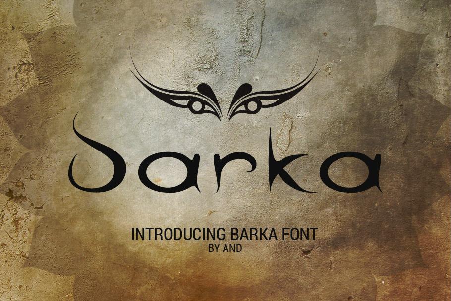 Barka font example image 1