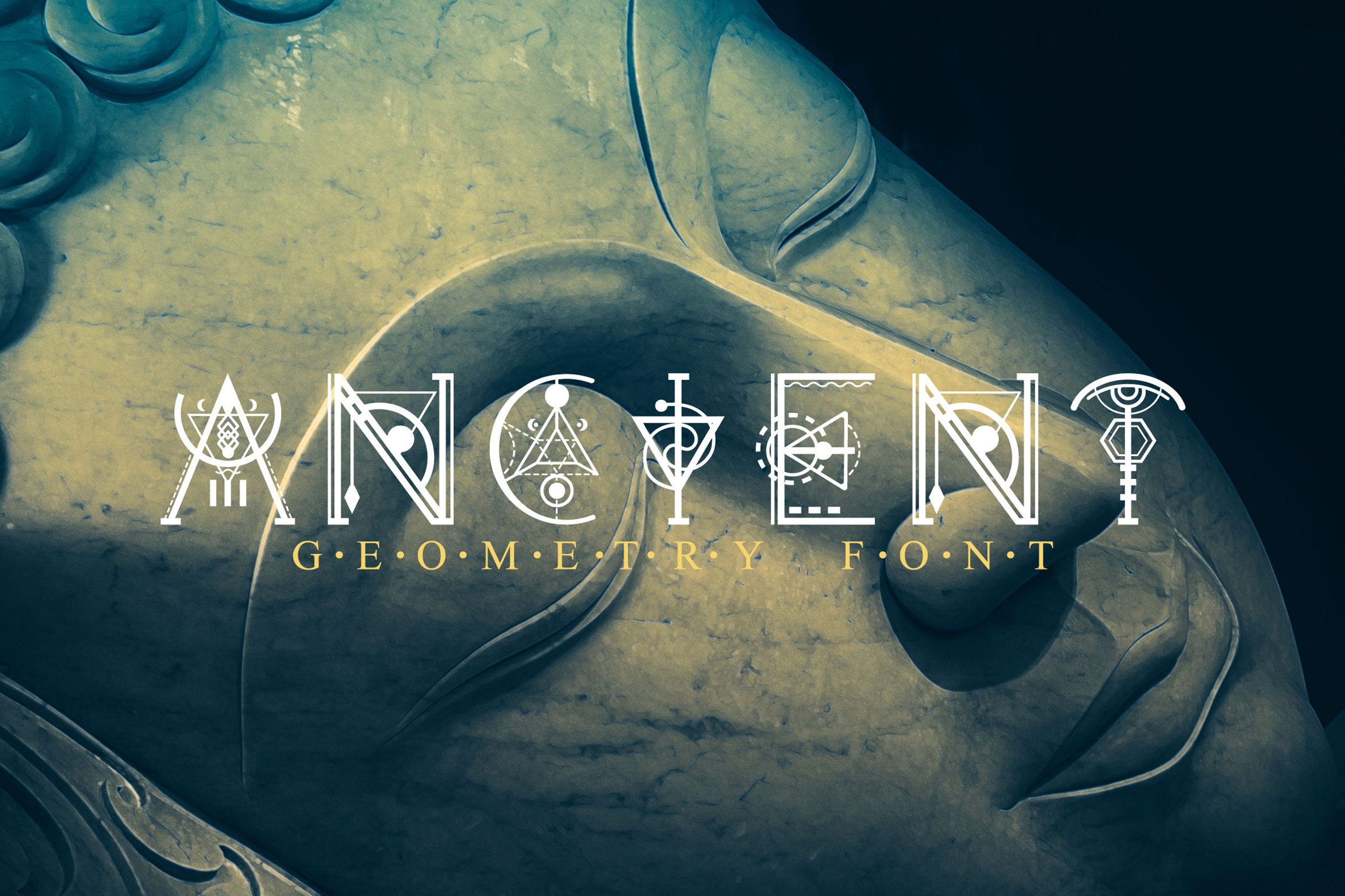 Ancient-Geometry font example image 1