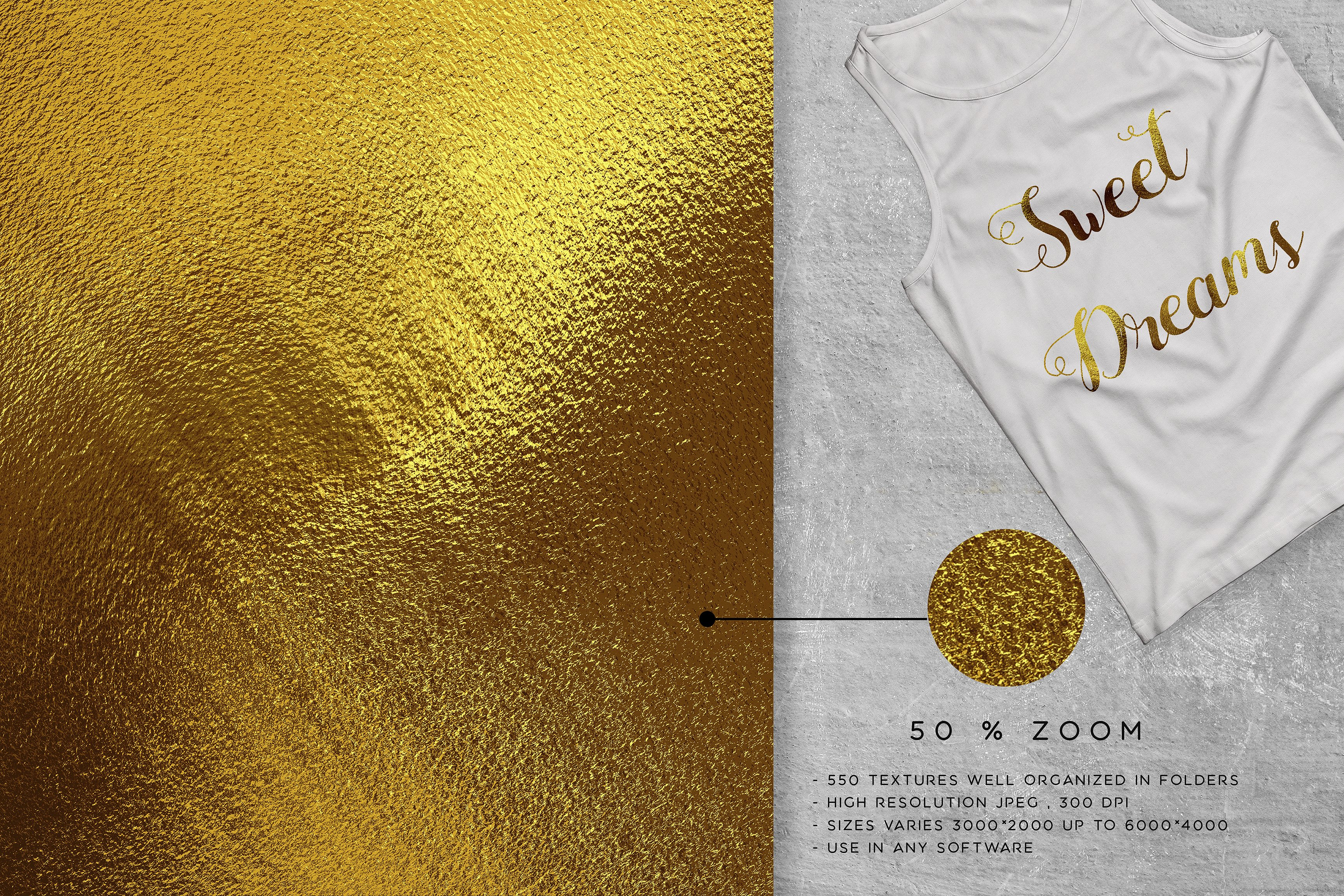 500 gold foil textures bundle example image 2