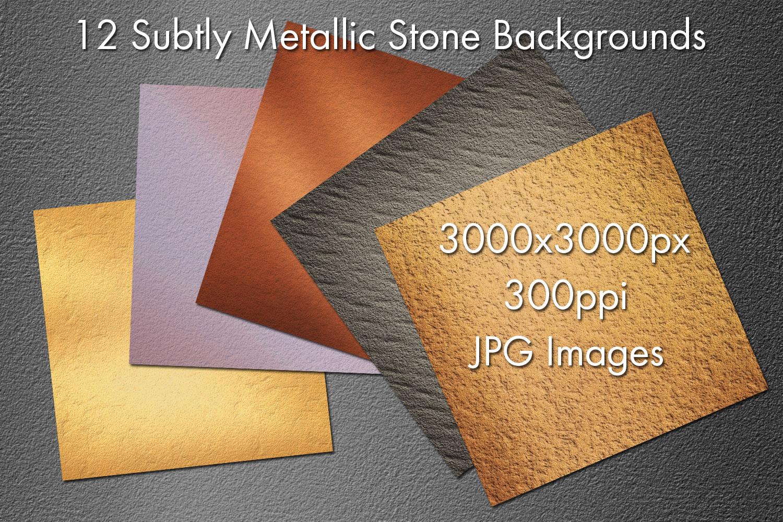 Subtly Metallic Stone Backgrounds example image 2