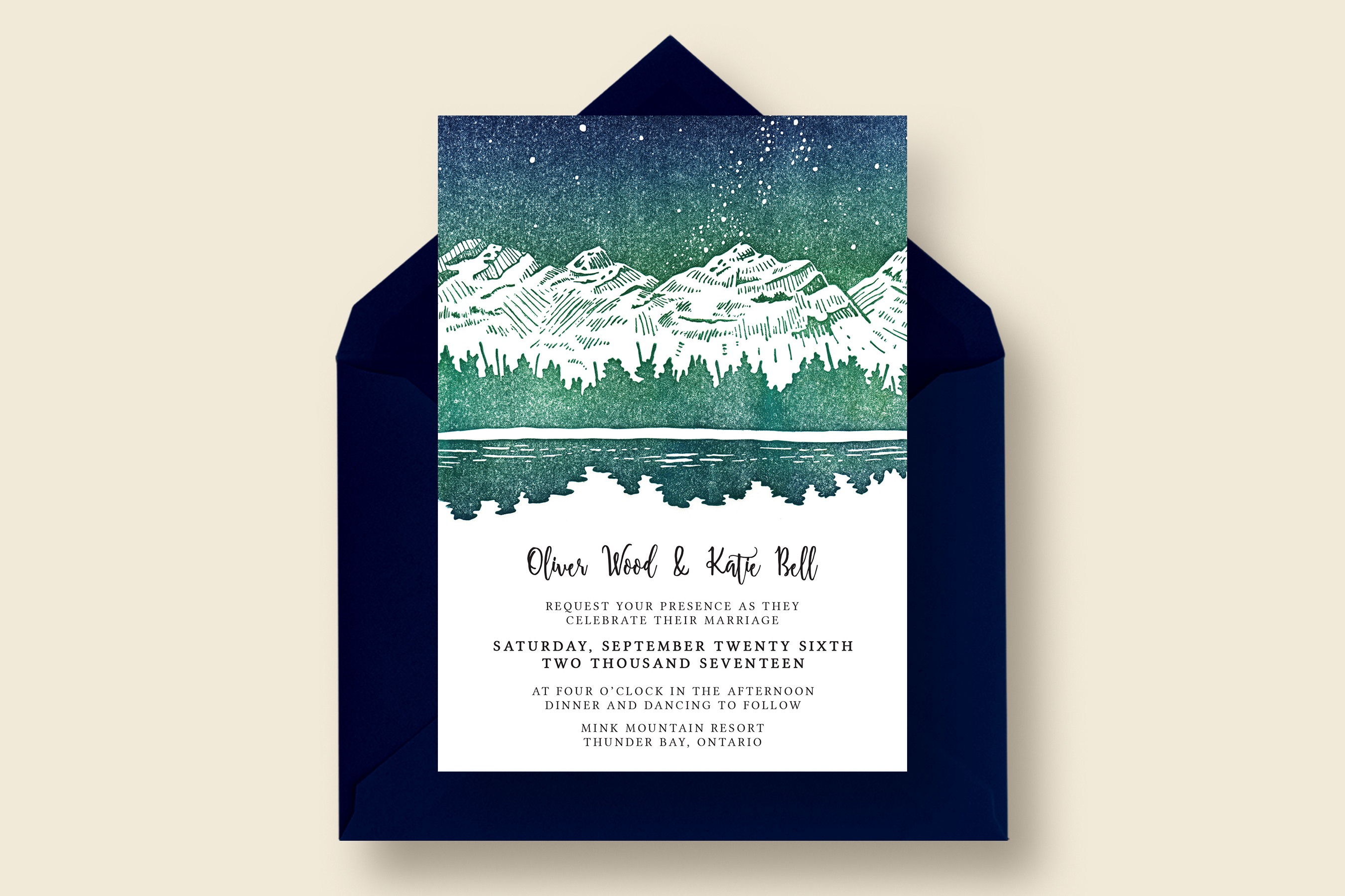 Starry Reflection Wedding Suite by Knot | Design Bundles