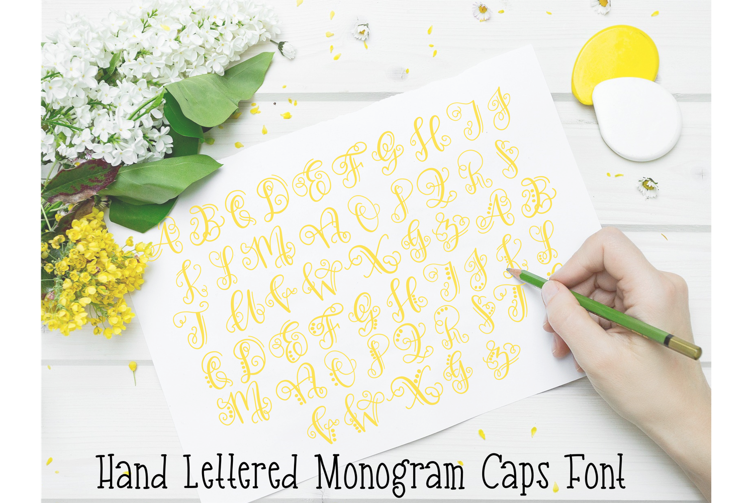 Monogram Hand Lettered Font example image 5