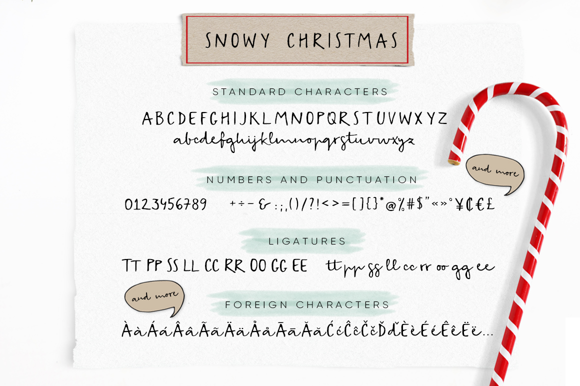 Snowy Christmas script font & logos example image 5