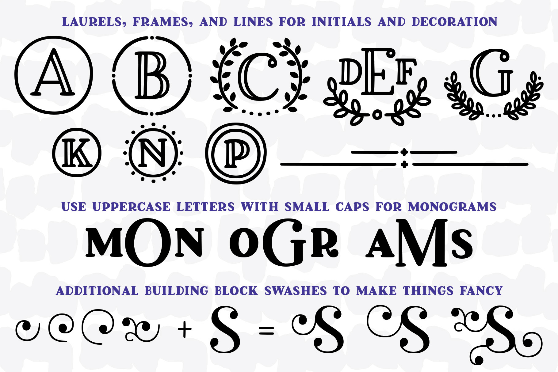 Breakfast Pastry: a decorative font family! example image 3