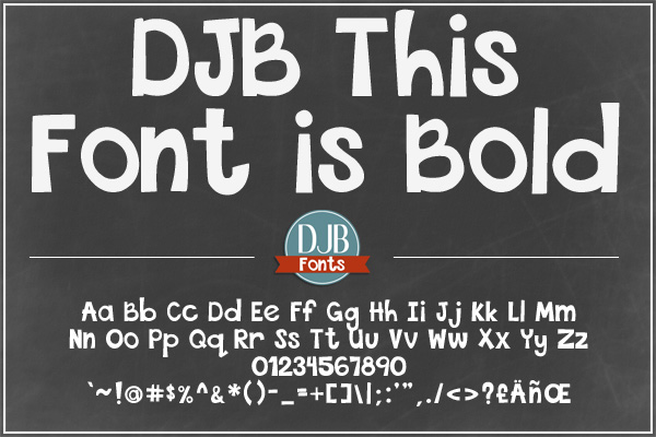 DJB This Font is Bundled example image 3
