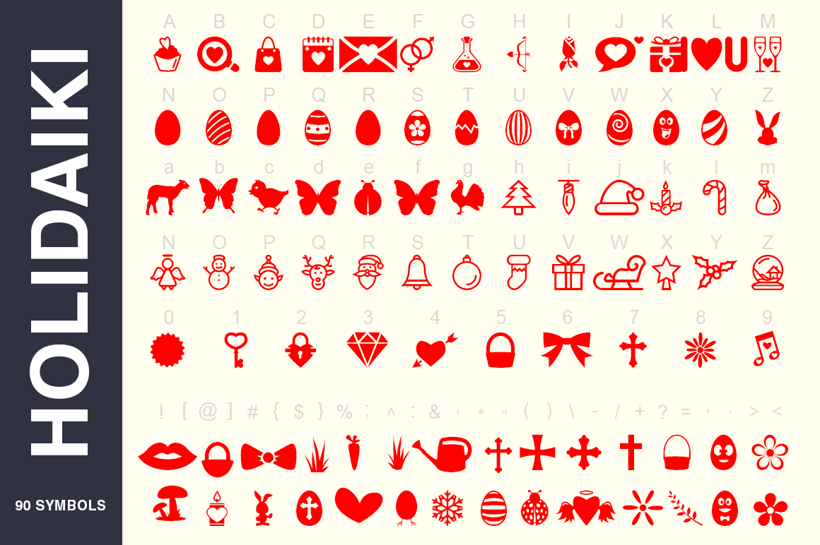 Symbols Font Collection - 450 Elements example image 5