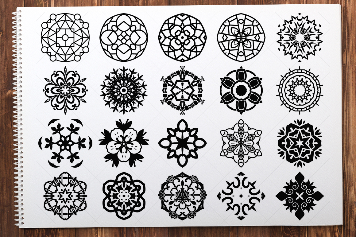 500 Vector Mandala Ornaments example image 22