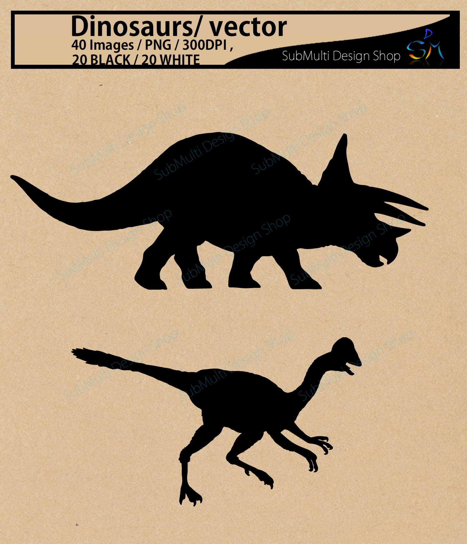 Dinosaurs silhouette svg / dinosaur Clipart, Iron on Transfer, Scrapbooking & Crafts / SVG template / EPS / PNG /animal silhouette / vector example image 2