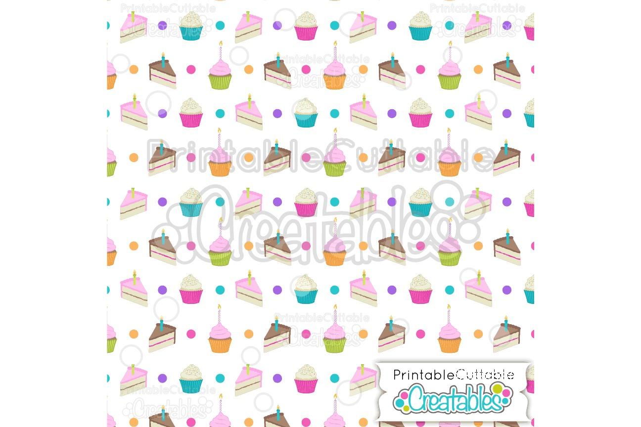 Birthday Cake Digital Paper & Seamless Pattern