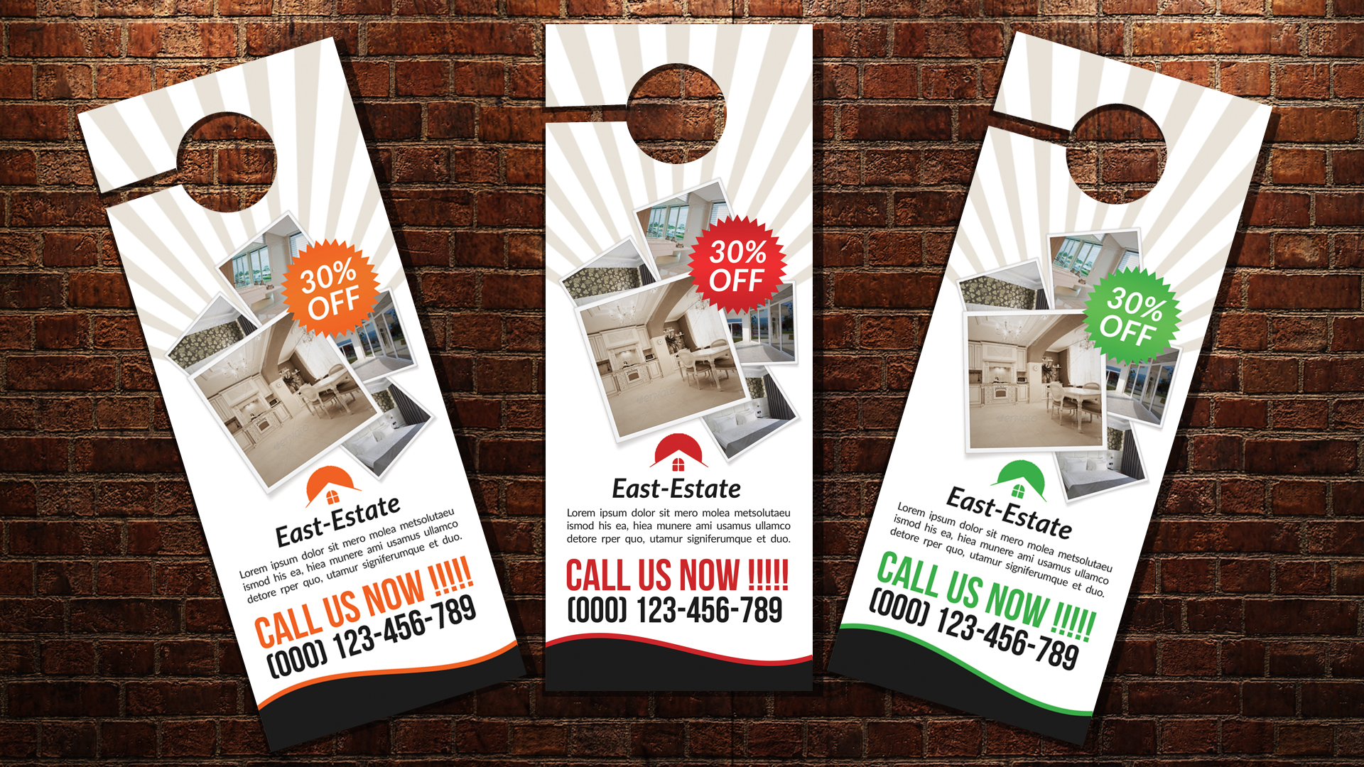 door hanger design real estate. Real Estate Door Hangers Example Image 3 Hanger Design