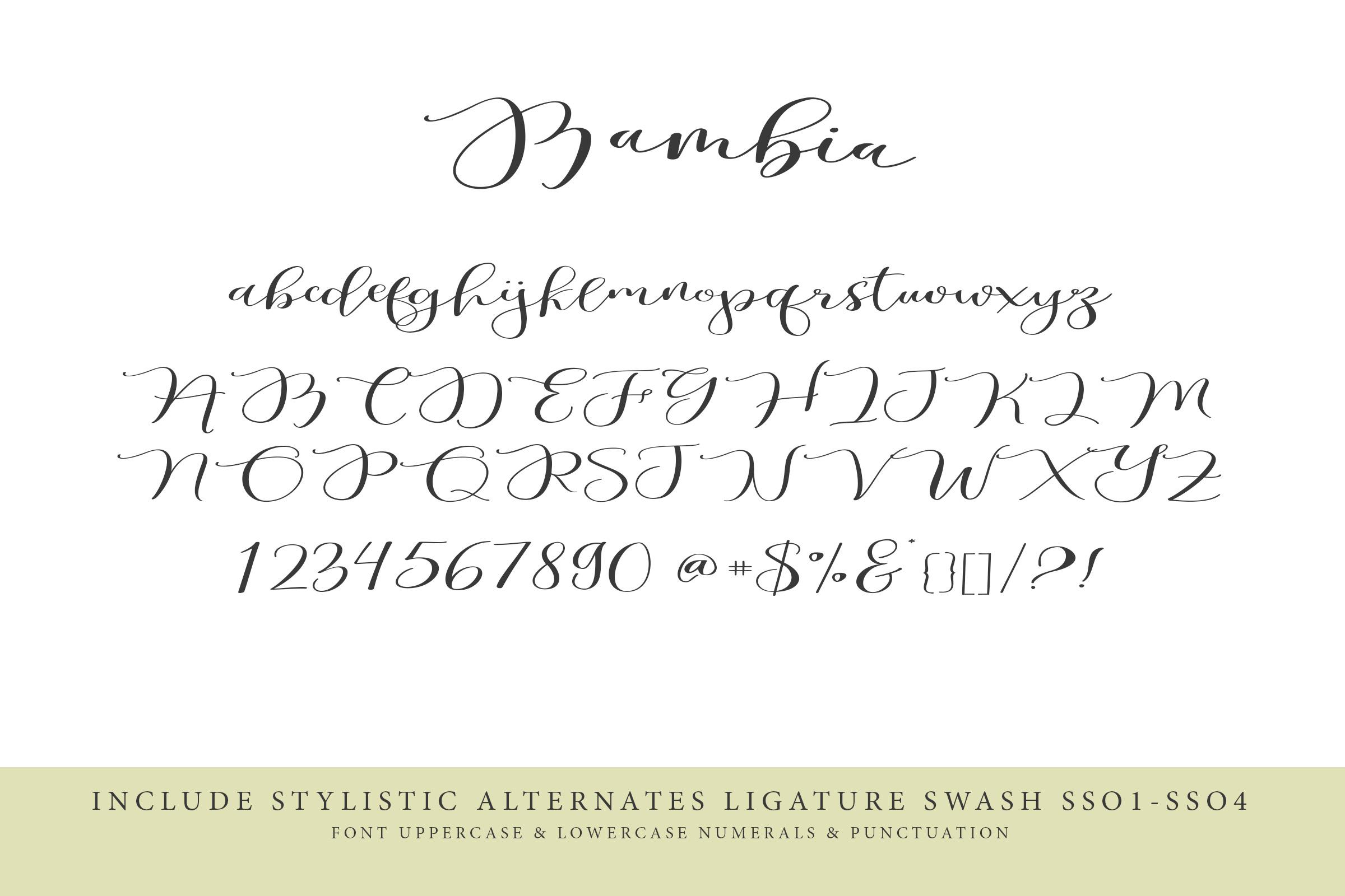 Bambia Calligraphy example image 7