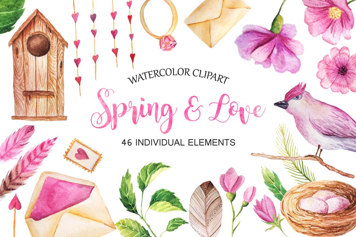 Summer Watercolor Floral BUNDLE example image 7