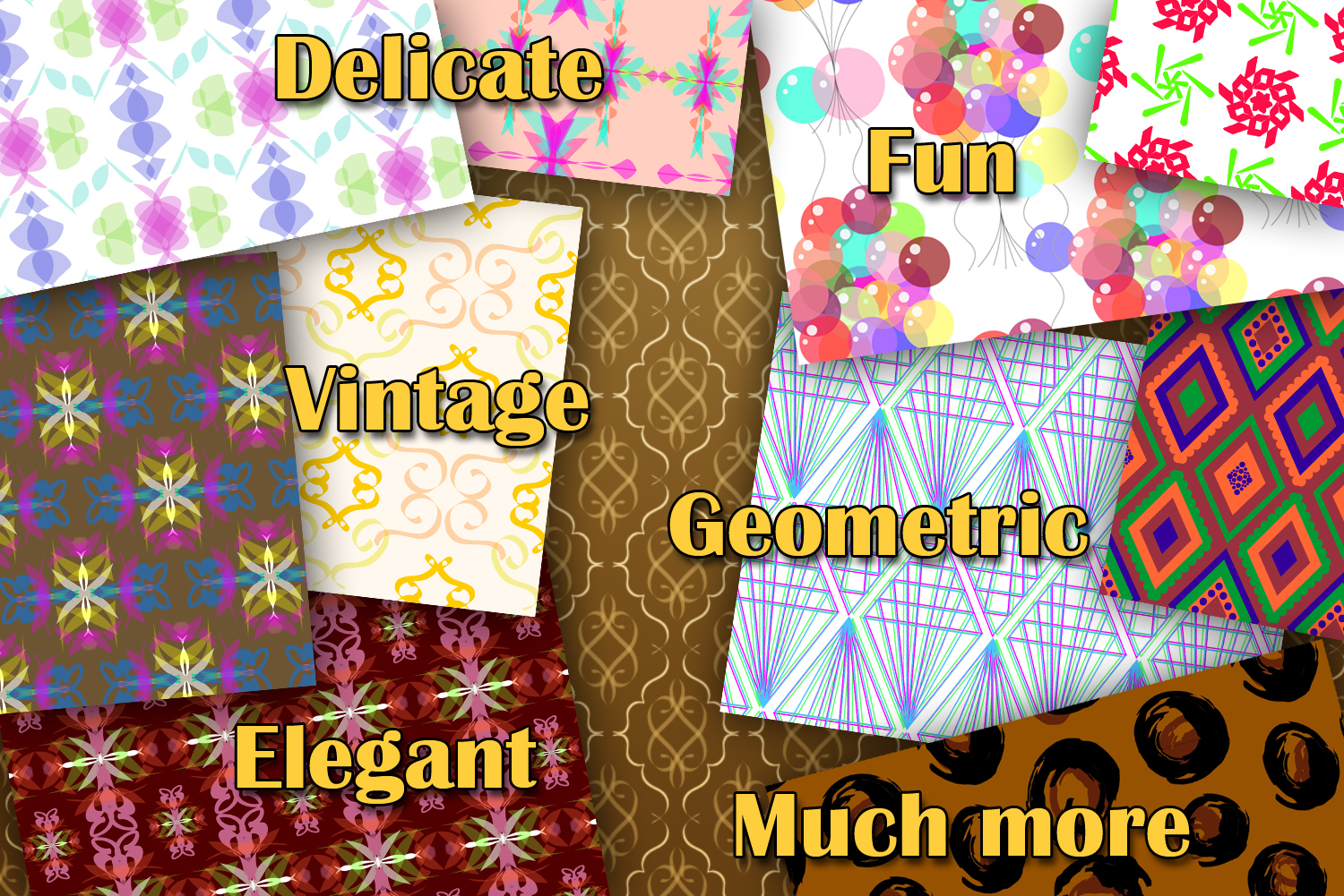 The Awesome Pack - 200 Seamless Patterns Digital Papers example image 3