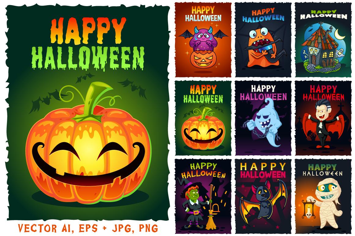 Happy Halloween Illustrations Set example image 1