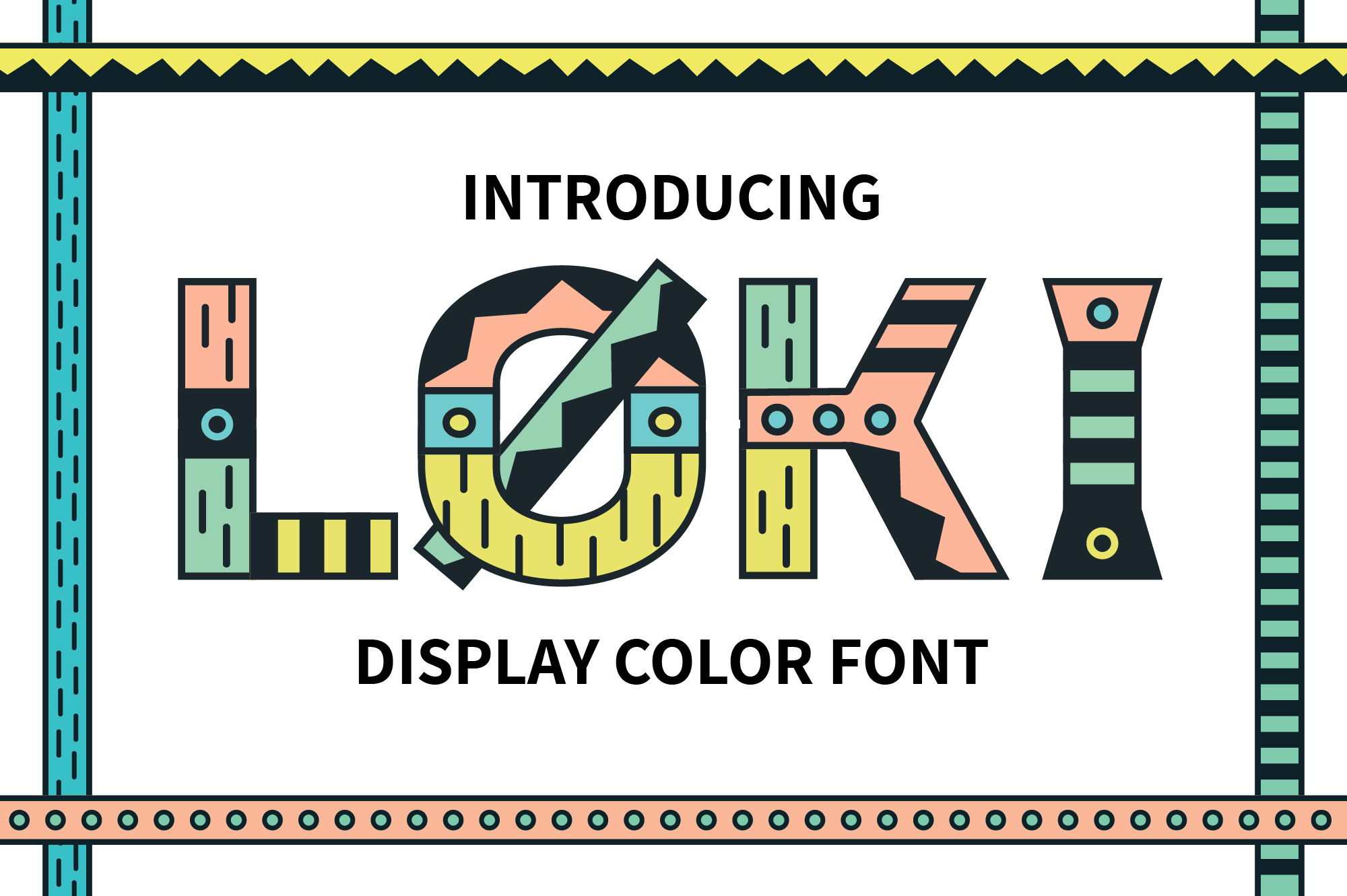 Loki Display Color Font example image 1