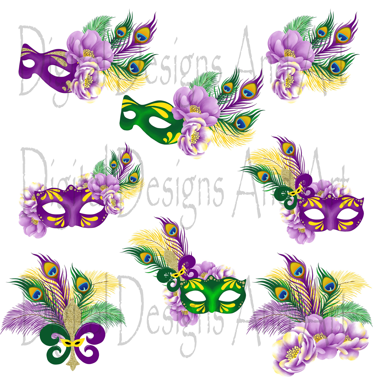 Mardi gras clipart by Digital Designs A | Design Bundles