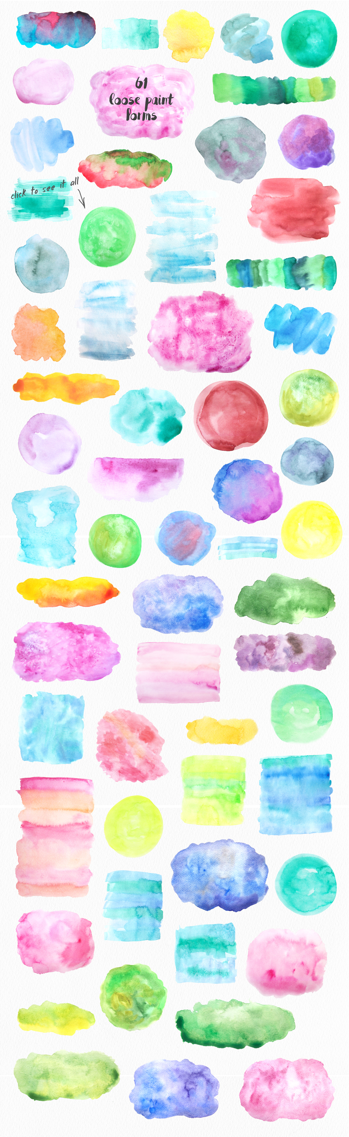 Big Watercolor Textures Pack example image 2