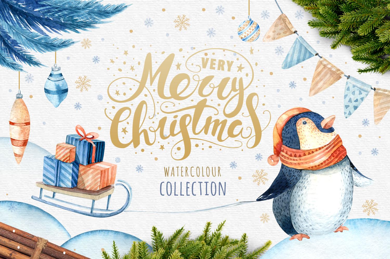60%off Watercolour Christmas BUNDLE! example image 5