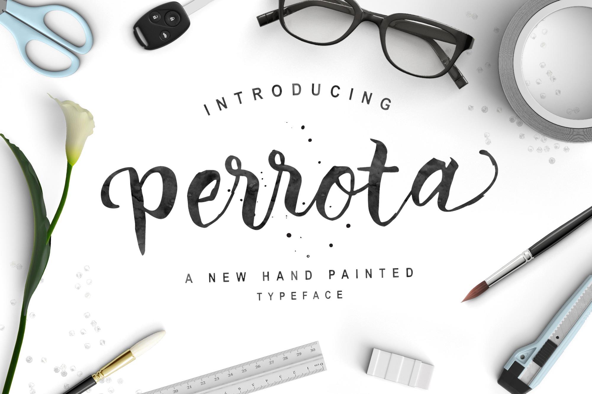 Perrota-Typeface-Handmade-Calligraphy