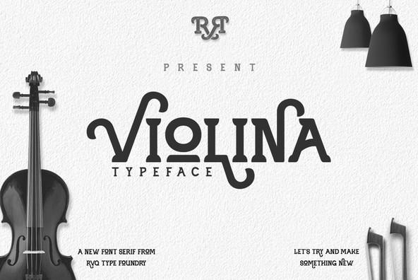 Violina typeface example image 1