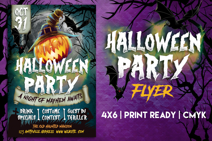 Halloween Party Flyer by Lucion Creative | Design Bundles