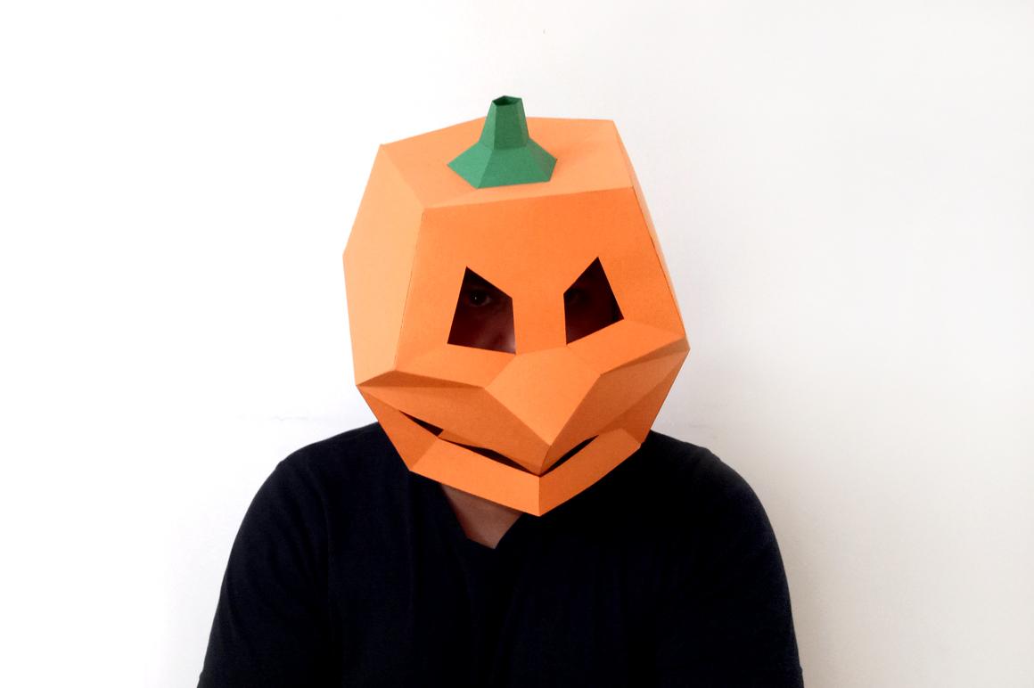 DIY Pumpkin Mask - 3d papercraft example image 4