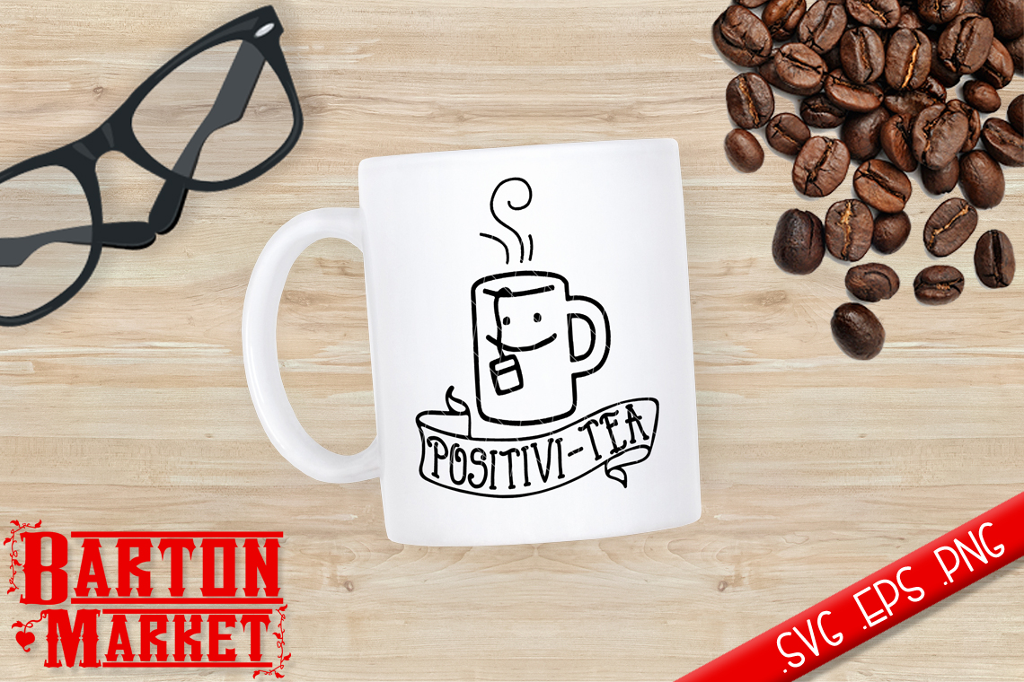 Positivi-Tea SVG / EPS / PNG example image 1
