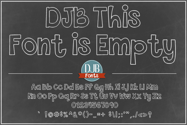 DJB This Font is Bundled example image 2