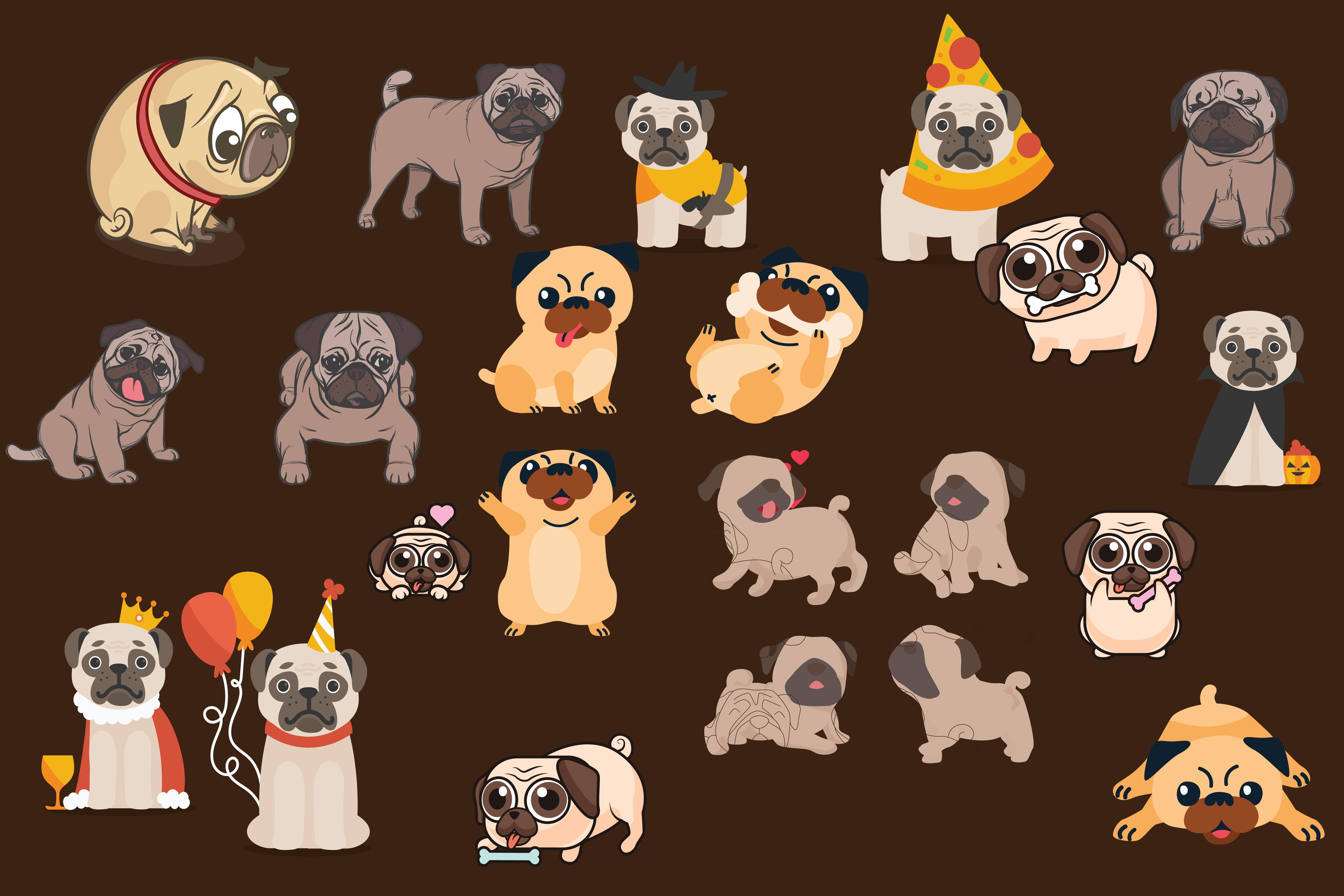 pugs,cute pugs,pug dogs,dogs,pug,animals,forest animals,wild animals,dog example image 3