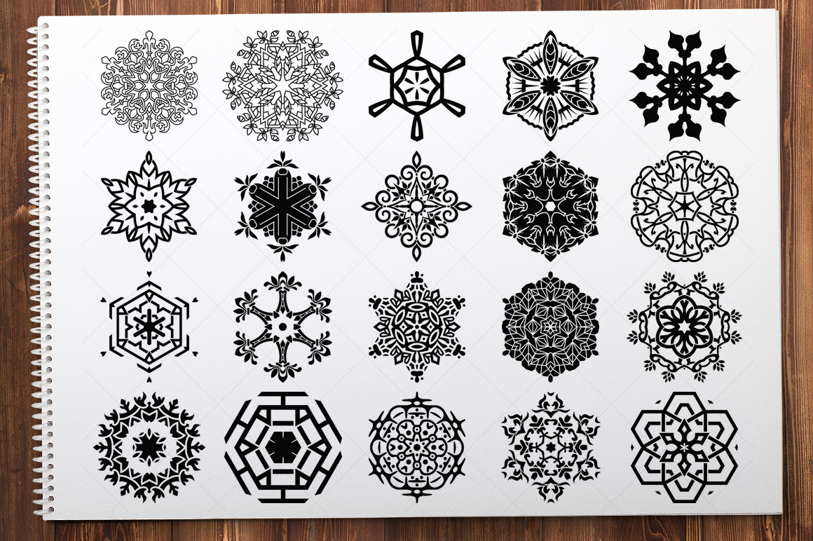 500 Vector Mandala Ornaments example image 20