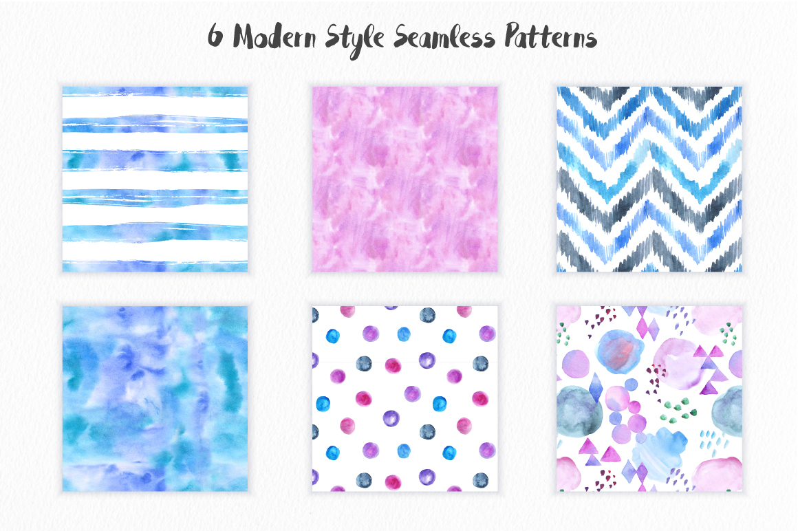 Big Watercolor Textures Pack example image 5
