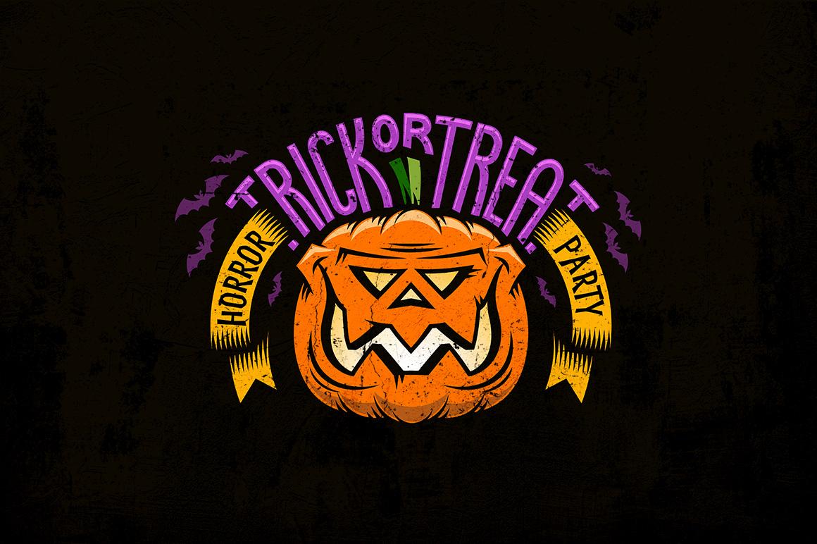 Halloween Pumking Logo Set example image 2