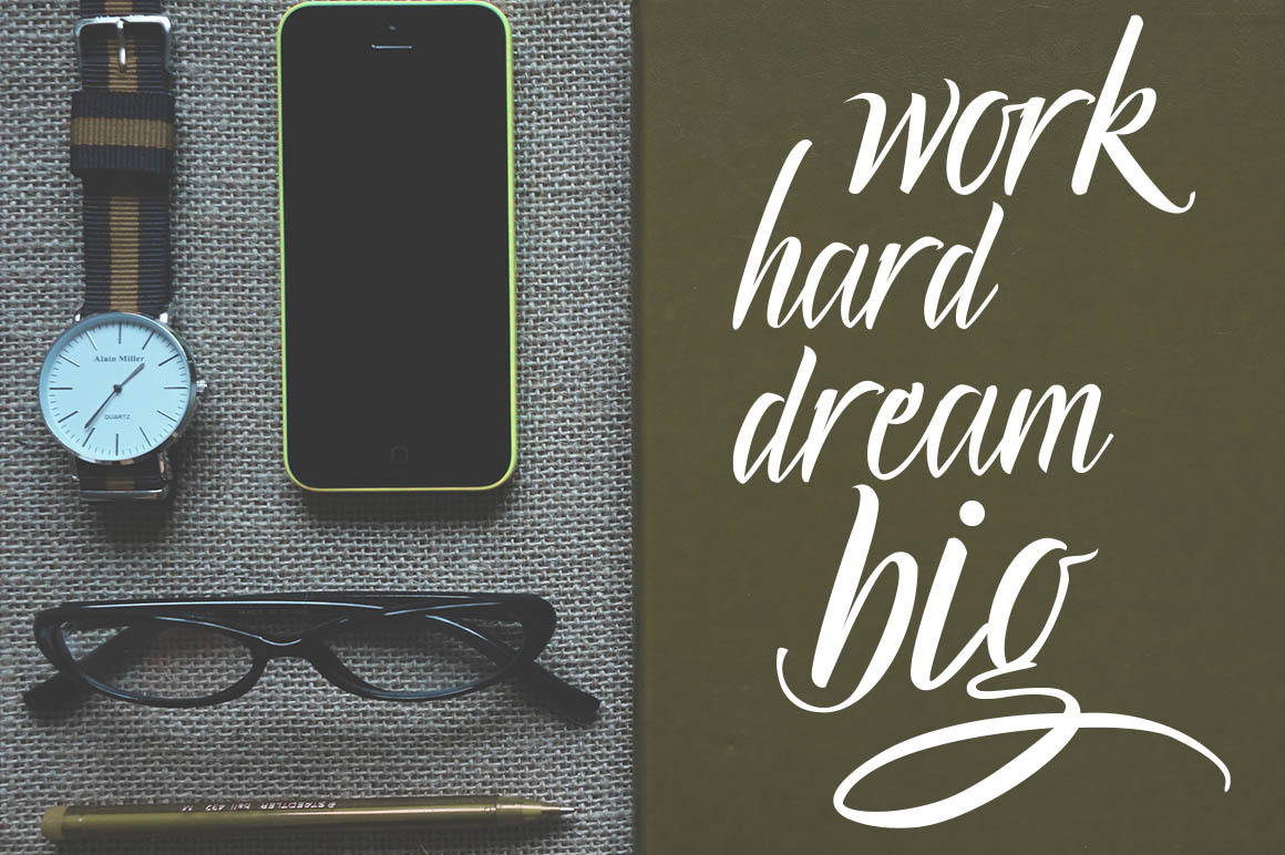 Lucky Dream Bold Font Duo + Swash example image 8