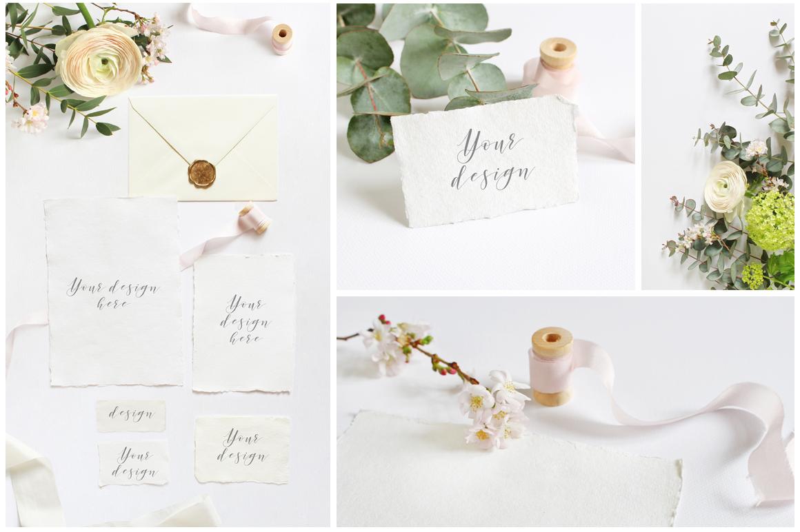 Spring Wedding mockups  & stock photo bundle example image 3