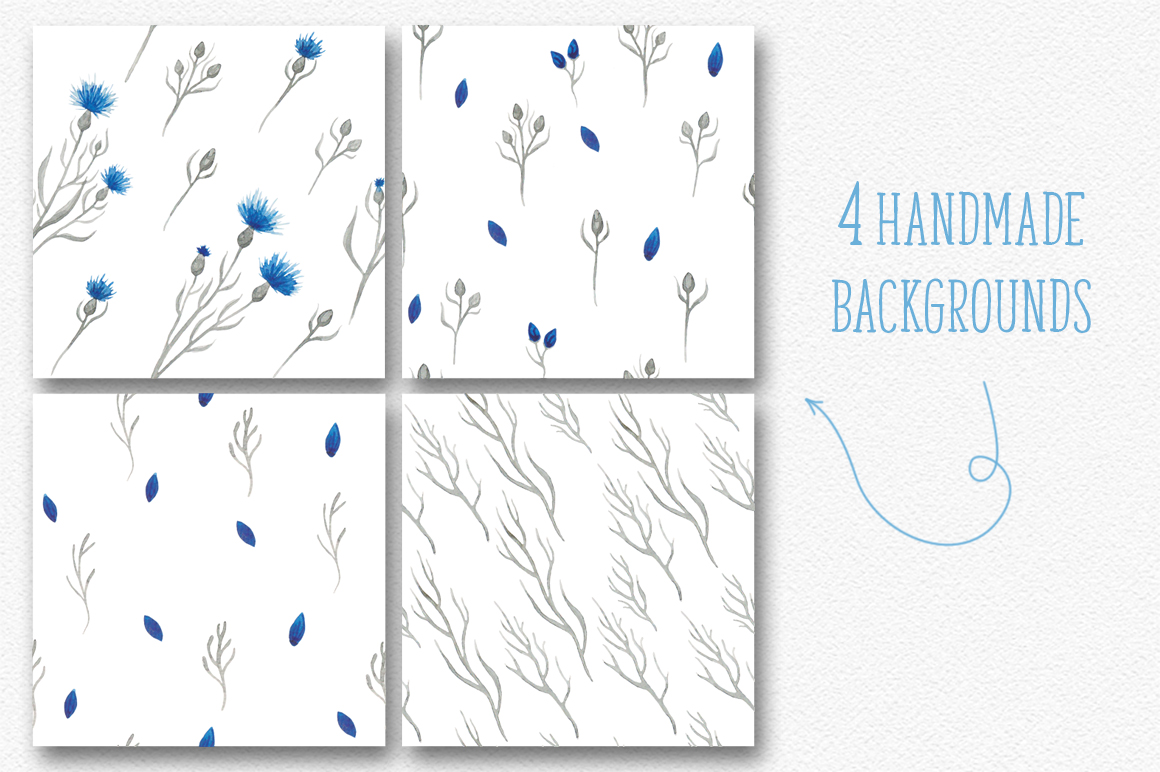 Blue flower _Wedding collection_ example image 5