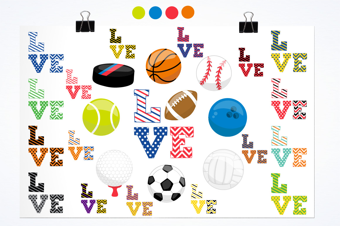 Sports love graphics and illustrations example image 2