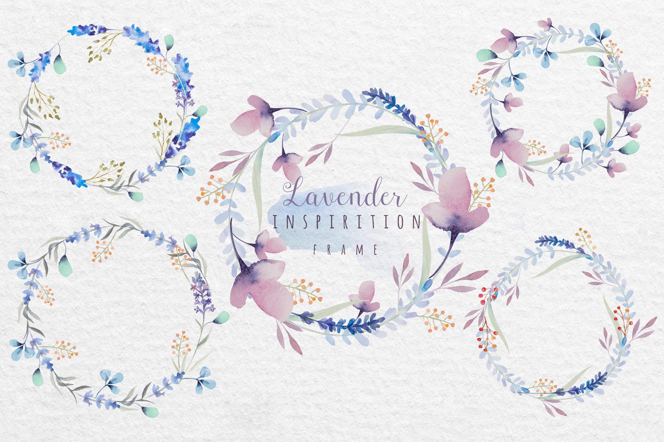 Lavender watercolor DIY example image 5