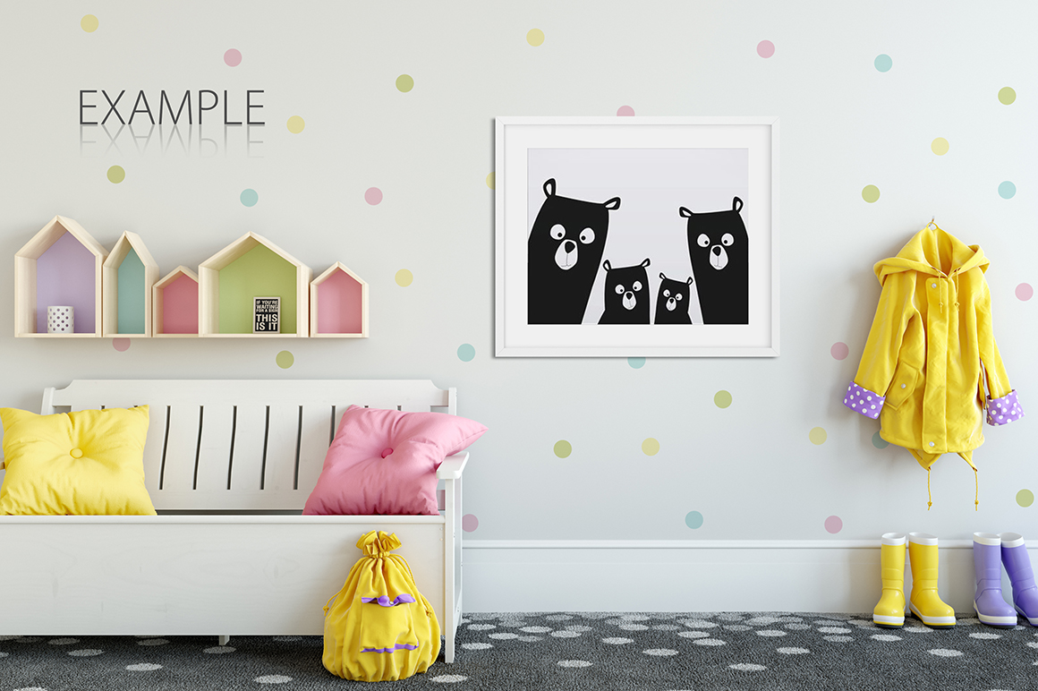 KIDS WALL & FRAMES Mockup Bundle - 2 example image 27