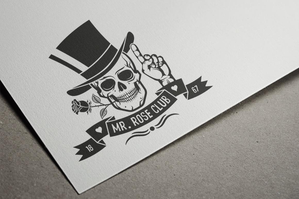 Hipster Skull Design Bundle example image 4