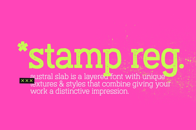 Austral Slab Stamp example image 5