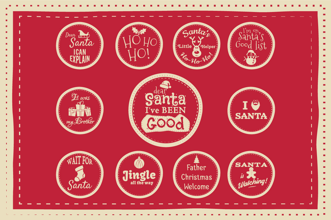 Funny Christmas Badges Collection example image 5