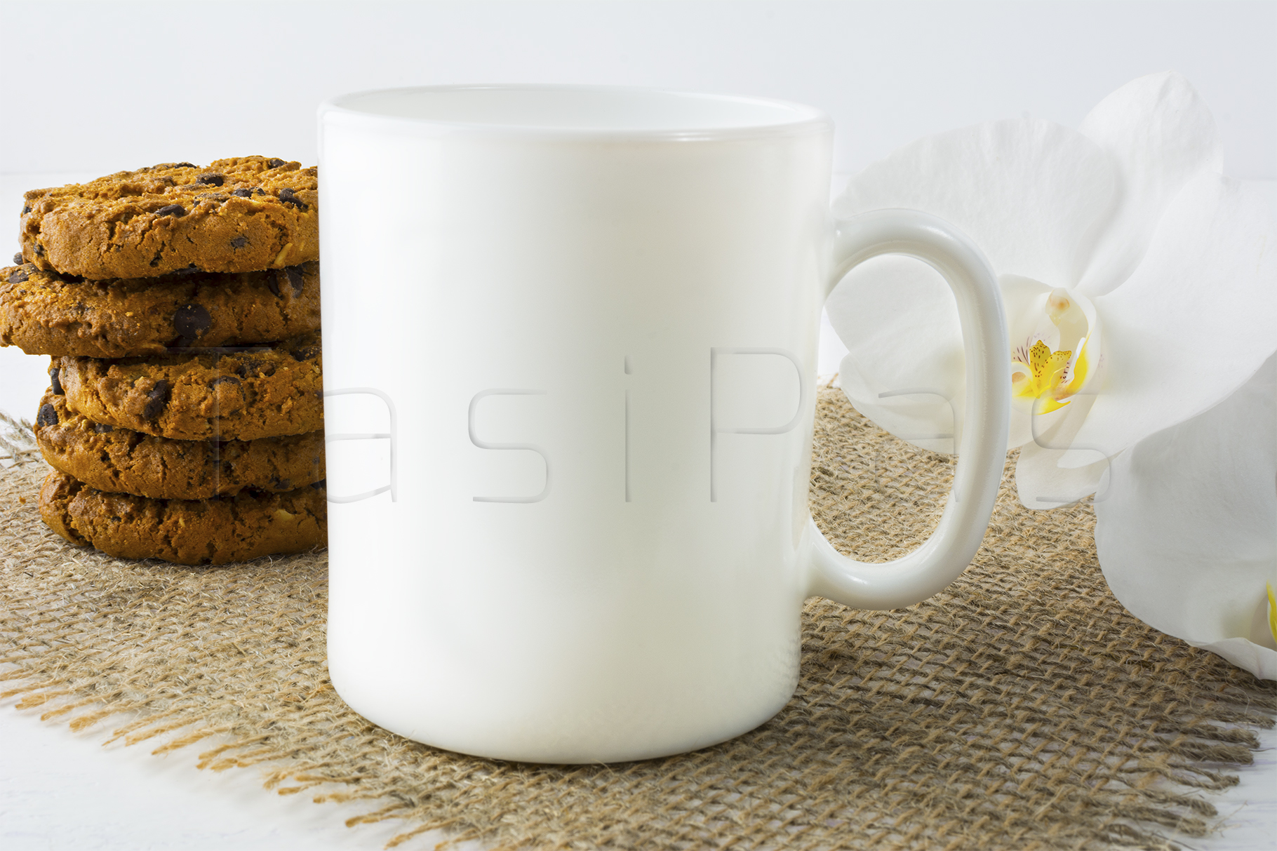 Coffee mug mockup with cookies example image 2