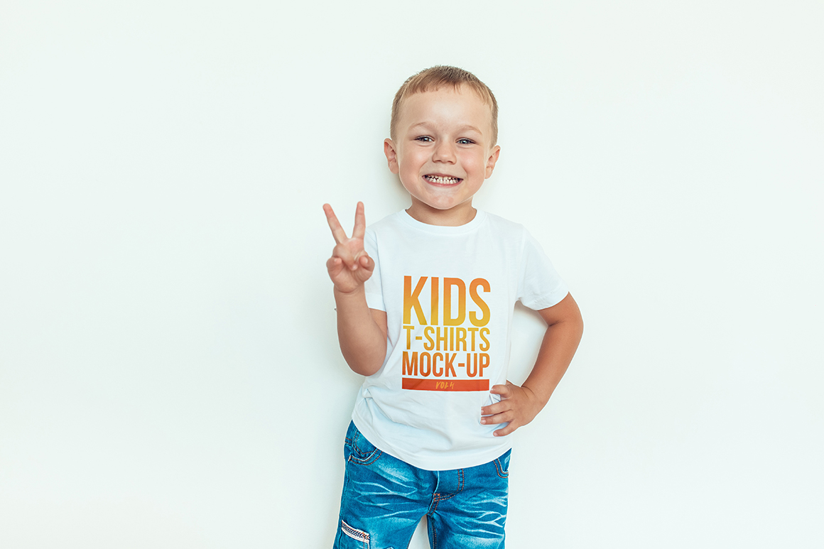 Kids T-Shirt Mock-Up Vol. 4 example image 7
