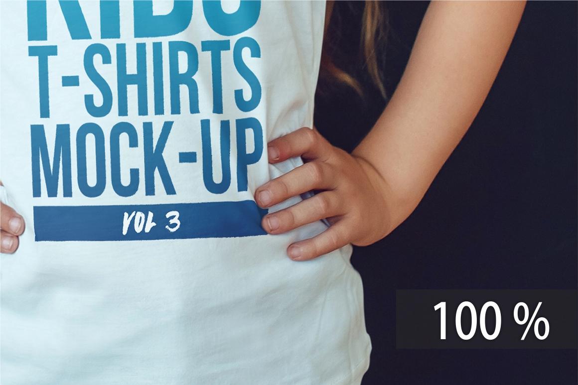 Kids T-Shirt Mock-Up Vol 3 example image 4