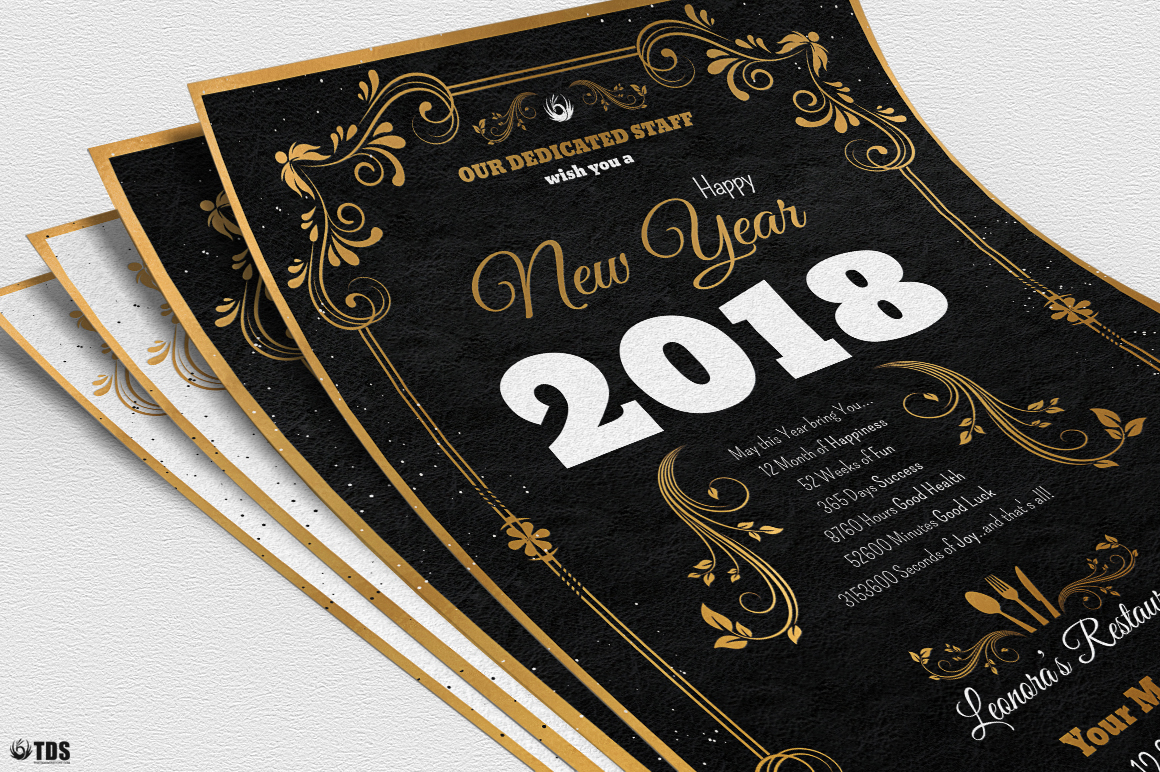 New Year Menu Template V1 example image 8