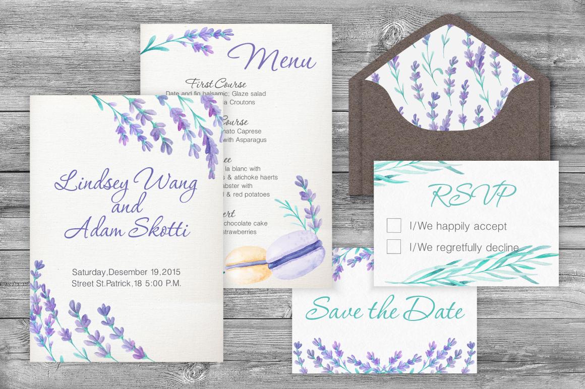 Lavender Wedding Card Set example image 5